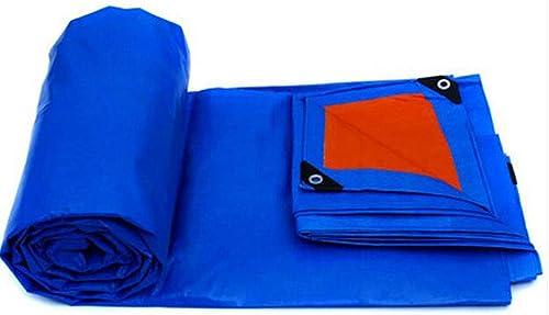 HWQN Bache bache en Plastique Feuille en Plein air Ombre Tissu Tissu imperméable Camion bache Canopy bache en Toile de Prougeection Solaire 0.32 MM 175g   m2 (Couleur   A, Taille   6  4m)
