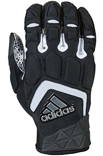 adidas Freak Max Padded Lineman Gloves, Black/White, Small