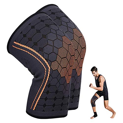 Compression Knee Support Sleeve,2 Pack KEAFOLS Knee Brace for Men & Women ,Knee Support Wrap Pads for ACL ,Pain Relief, Injury Recovery ,Running ,Basketball, Crossfit ,Squats, Gym Workout
