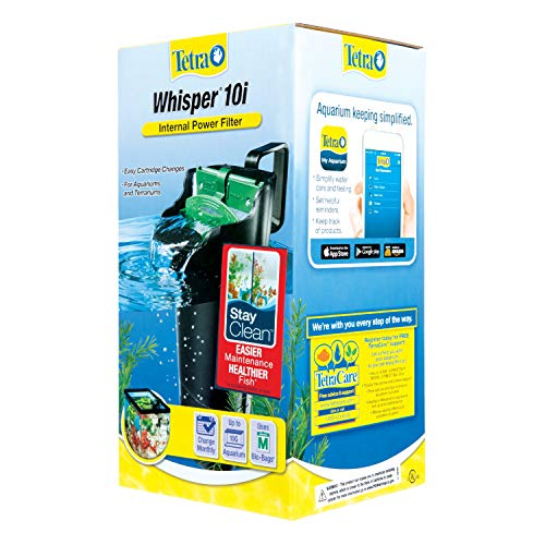 Tetra Whisper Internal Filter 3 To 10 Gallons For aquariums InTank Filtration With Air Pump Blacks  Grays 25816