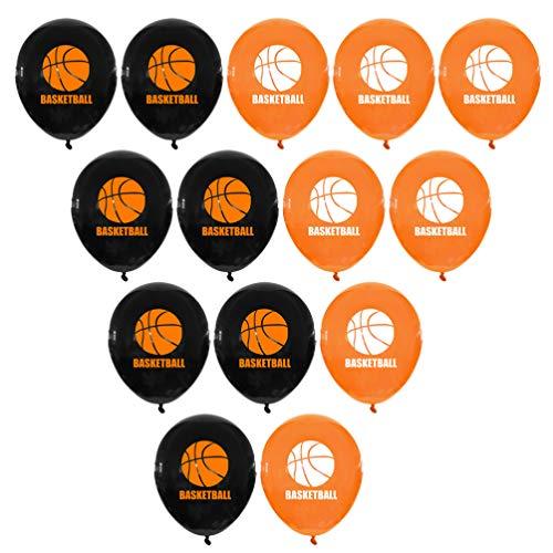 Amosfun Globos de látex de baloncesto de 20 unidades, globos deportivos, guirnaldas para la decoración de fiestas de cumpleaños de baloncesto con temática deportiva