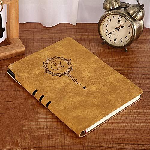 Cuaderno de cuero - Hermoso cuaderno de encuadernación de cuero hecho a mano Cuaderno de negocios de piel suave de piel de oveja A5 Logotipo personalizable Espesar 16 * 21cm