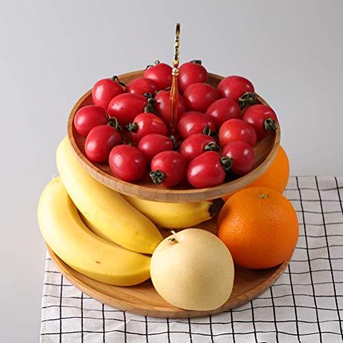 QTQHOME Cesta de Frutas de 3 Niveles Sala de Estar Hogar Creativo Expositor de Frutas Personalidad Moderna Simple Creative Fruit Etagere (Color:Plata,Tamaño:2 Niveles)