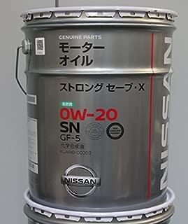 NISSAN 日産純正 エンジンオイル SNストロングセーブX (化学合成油) 0W-20 20L KLAN0-00202