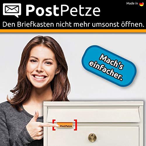 PostPetze - Dein analoger Postmelder. Öffne Deinen Briefkasten nie mehr umsonst. (weiss)