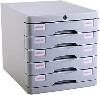 KANJJ-YU Tiroir de bureau Sorter 4 couches verrouillables Bureau de stockage des données confidentialité Tiroir de bureau ...
