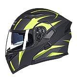 SJAPEX Casco Modulare Modulare per Moto Casco Moto Racing con Doppia Visiera Parasole Casco Moto Donna Uomo Open Face,Certificazione ECE,Casco Modulare Moto Integrale Scooter D,L=58~59cm