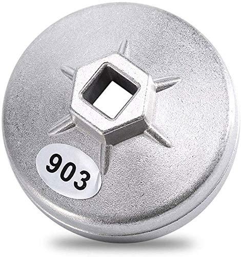 Poweka 74 mm 14 Flauta Llave de Filtro de Aceite 903 Herramienta Extractora Llave Herramienta Socket Remover
