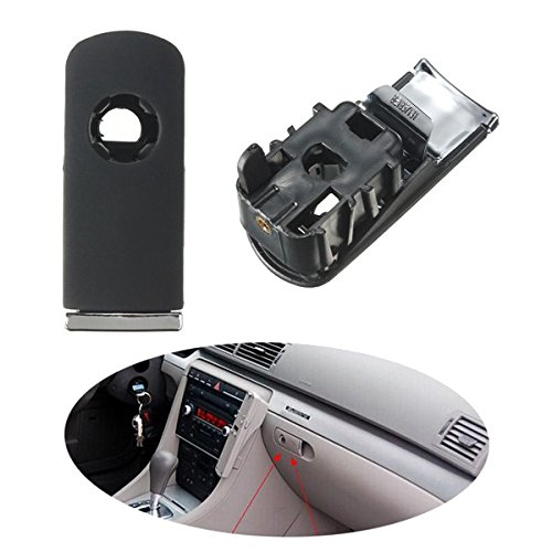 PeroFors Chrome Glove Box Lock Lid Handle con Hole Dark Grey para Audi A4 8E B6 B7-Negro