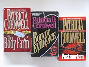 Patricia Cornwell 3 Book Paperback Set (Kay Scarpetta Series:, Body of Evidence, Postmortem, The Body Farm)