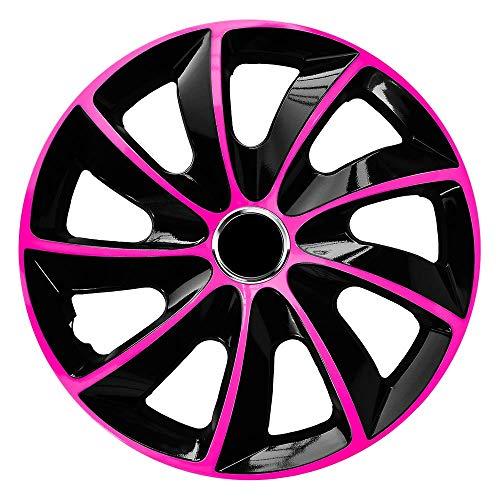CM DESIGN Stig Extra - Parche batidor (14 Pulgadas, Apto para Casi Todos los Peugeot por Ejemplo para 307 CC), Color Rosa y Negro