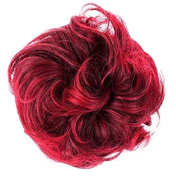 PRETTYSHOP XL Hairpiece Scrunchy Updo Bridal Hairstyles Scrunchie Voluminous Curly Messy Bun Red Mix G29E