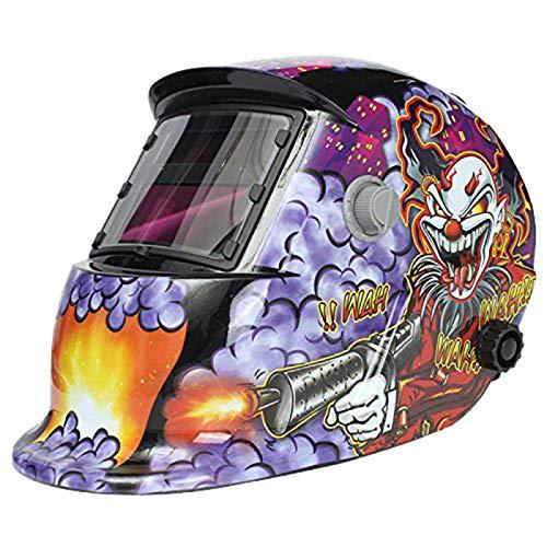 NZQLJT Pantalla soldar automatica, Máscara automática de Soldadura Solar Casco de la Soldadura (Recarga de energía) Protección Facial (Pistola Payaso) (Color : A-1)