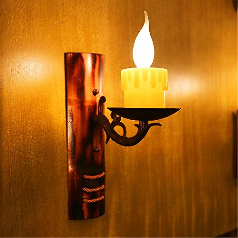 StiefelU LED Wandleuchte nach oben und unten Wandleuchten Retro einzige Kerze Wandleuchte Verkehrskorridor cafe bar in Amerika Bambus gewebte Wandleuchte