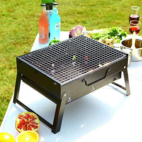 Portable Charcoal Grill, Space-Saving Foldable BBQ Outdoor Smoker BBQ for Camping, Travel, Garden, Outdoor WTZ012