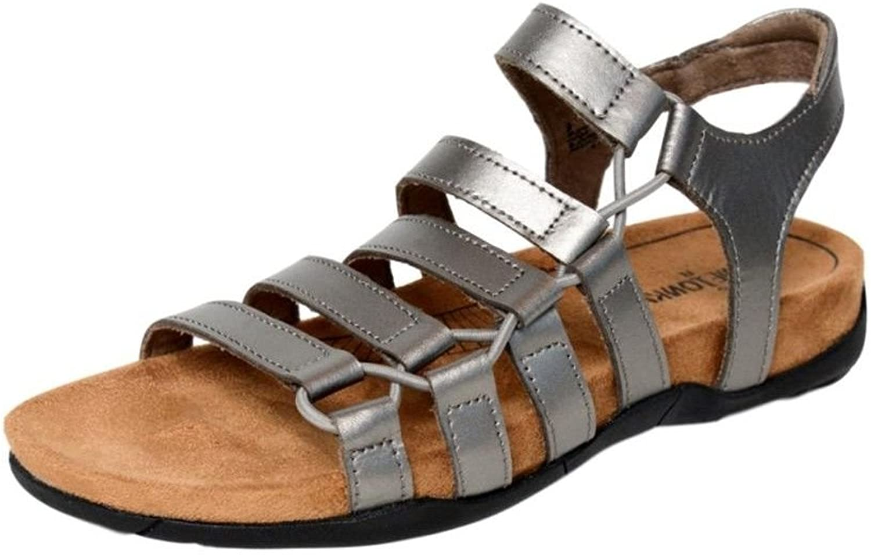 damen Ballard Sandal, Pewter Leather, Größe 10