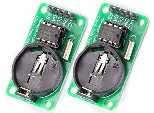 MissBirdler 2pcs DS1302 Serial Real Time Clock RTC Real-time Clock Module with Temperature Sensor for Arduino Raspberry PI