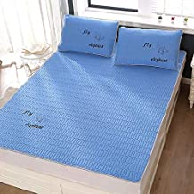 Fashion Silky Nano Latex Cool Bed Mattress Cover Summer Bed Sheet Pillowcase Children Summer Sleeping Bed Mat Set for Adul...