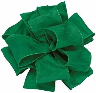 Offray Anisha Wired Edge Ribbon, 2-1/2-Inch by 10-Yard, Forest Green