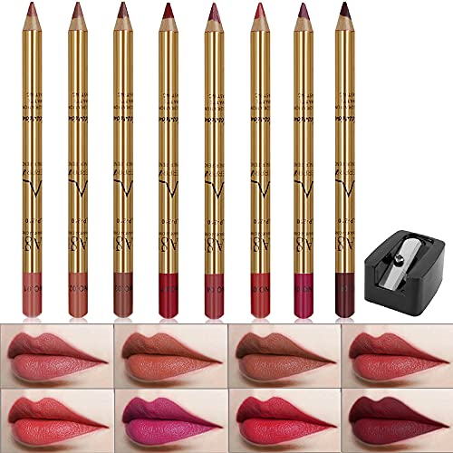 Wismee Lip Liner Pencil Set 8 Color…