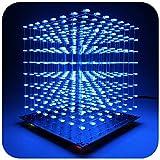 iCubeSmart 3D LED Cube Bausatz Diy Kit LED Licht Cube Diy Elektronik 8x8x8 Wuerfel Bausatz Für...