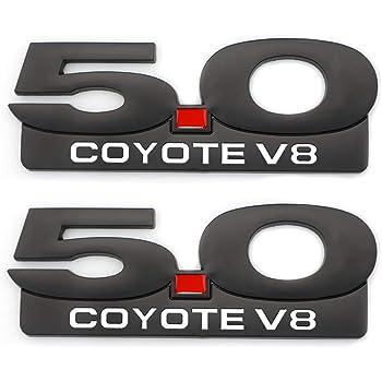 New Metal 5.0 Emblem Badge Fits For Mustang GT Coyote 5.0L V8 F150 Fx4 Fender Trunk Nameplate Decoration Black