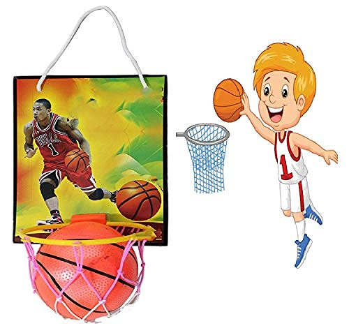 AASA Indoor Outdoor Wall Mount Basketball Hoop Set with Basketball for Kids and Adults