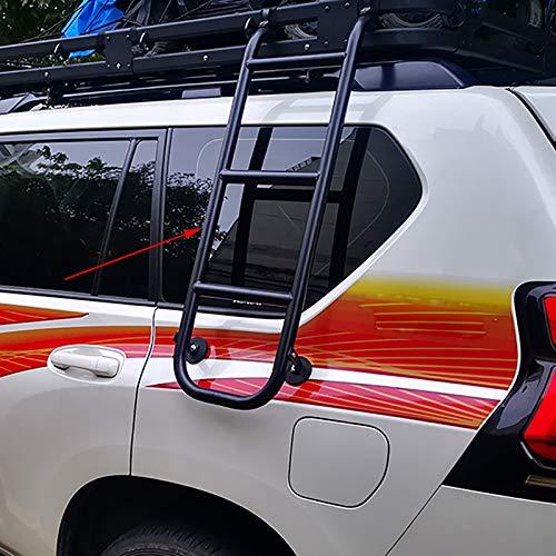 Roboraty Escalera Lateral SUV Apta para pa # trol, Cru-iser, pr # Ado, Accesorios de modificación de Coche de Escalera de Equipaje de aleación de Aluminio