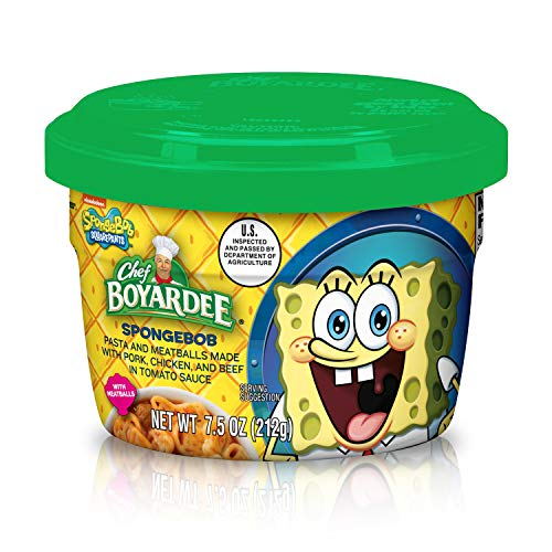 Chef BOYARDEE Spongebob Pasta Shapes with Meatballs Cup - 7.5oz