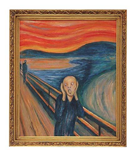 Cuadro al óleo con Marco Pintado a Mano reproducción Copia Edvard Munch el Grito