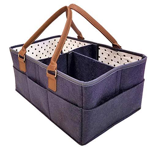 Kuinayouyi Organizador de pañales para bebé, cómodo, portátil, color azul marino