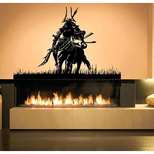 Blrpbc Pegatinas de Pared Adhesivos Pared Kendo Pegatina Samurai calcomanía Ninja Cartel Vinilo Arte Guerrero decoración Mural Kendo Pegatina 170x116cm