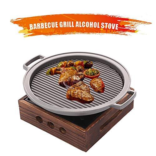 Portable Camping BBQ Grill Steak Hot Pan Stove Set