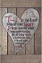 Dexsa Trust in The Lord with All Your Heart.New Horizons Wood Plaque