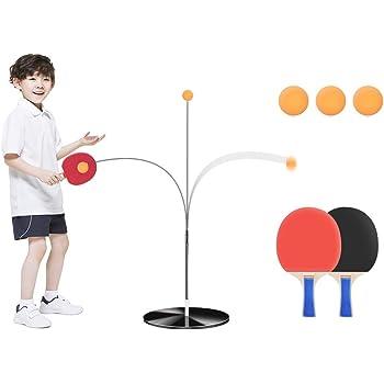 卓球練習機 ピンポン練習機 ピンポントレーニング 子供 大人 一人で練習できる卓球マシン 高さ調節可能 ボール拾いなし ストレス解消 ピンポン球3個 ラケット2本