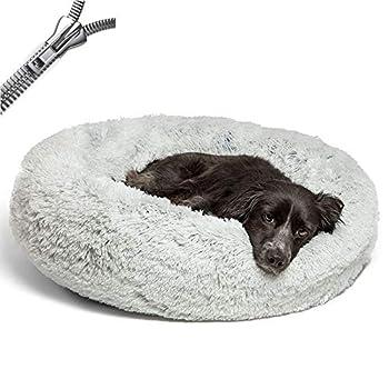 Puppy Love Panier Chien, Coussin Chien Anti Stress XXXL Dehoussable,Paniers Et Mobilier pour Chiens, Lit Moelleux Rond pour Chien, Lavable, Confortable#3-100cm