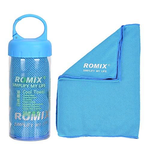 YouFia Mikrofaser-Handtuch, Kühlhandtuch Reisehandtuch Fitness- und Sporthandtuch eiskalt, saugfähig, schnelltrocknend, streichelweich 30 x 90 cm (Blau)