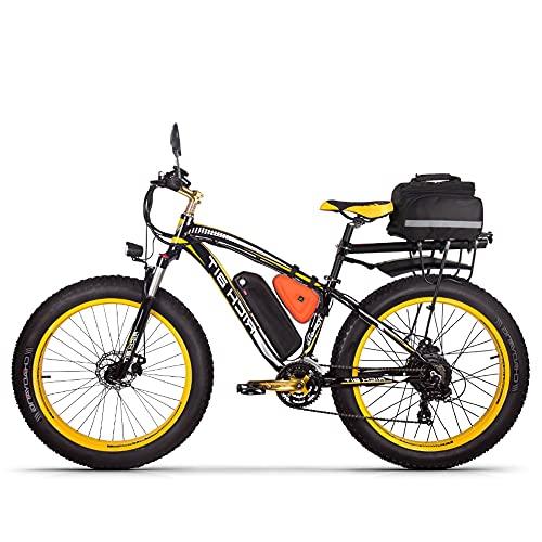 RICH BIT TOP022 Bici elettrica 1000W 26' Fat Tire Ebike Shimano 21 Velocità Snow Bicycle 48V * 17Ah Batteria agli ioni di litio Beach Mountain Ebike