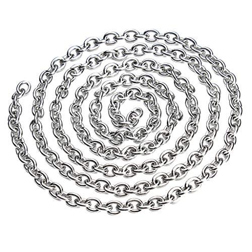 Baoblaze 5 Meter Edelstahlkette Kugelkette aus Edelstahl Rollo Kette Perlenkette Halsketten Dekoration - 4x5mm