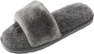 Unpafcxddyig Women Slippers Fluffy Fur Slip On House Slippers