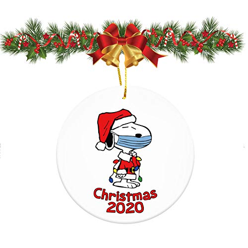 2020 Christmas Ornaments with Snoopy/Customized Christmas Decorations/Christmas,3 Inch Cute Dog Merry Christmas Decorations Gift Tree Ornament Kit Hanging Accessories for Home Indoor Outdoor Decor