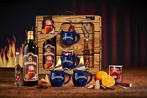 Feuerzangentasse Geschenkset, Schatzkiste, Blau - für Feuerzangenbowle
