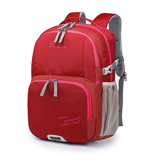 Mountaintop Kids Backpack for School Small Hiking Backpack for Boys and Girls