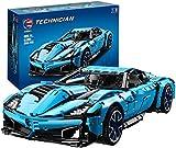 Juego de bloques de construcción de juguete coche de carreras, kit de construcción de coche de carreras 1: 8, compatible con coche-2700 piezas, niños y niñas mayores de 6 años