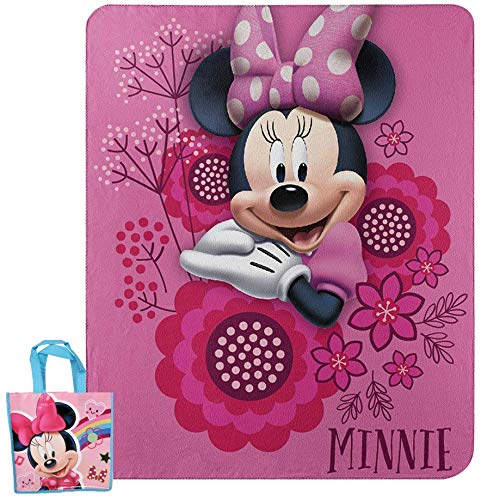 Disney / Northwest Minnie Mouse Fleece Throw Blanket & Gift Bag - 2 pc Set