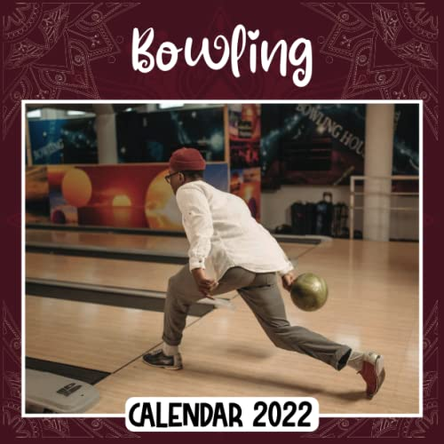 Bowling 2022 Calendar: Bowling mini calendar 2022 2023, Bowling 2022 Planner with Monthly Tabs and Notes Section, Bowling Monthly Square Calendar with 18 Exclusive Photos