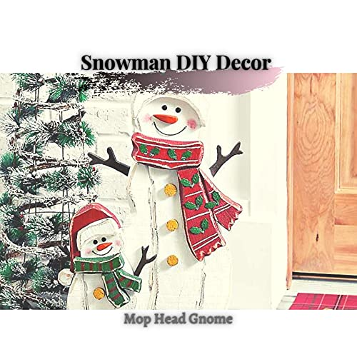 Snowman DIY Decor : Mop Head Gnome (English Edition)