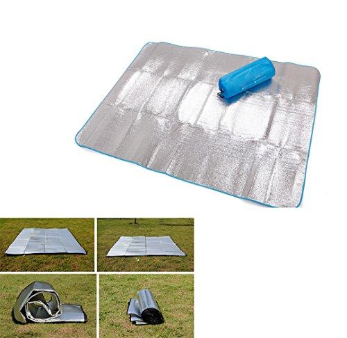 Outdoor Aluminium-Pad Picknick-Matte Camping Strandmatten Ausflug im Freien Matte Wasserdichte Picknickdecke Yoga-Matte XXL 200x200cm