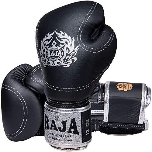 RAJA Boxhandschuhe, RJB P2 Leder, schwarz Größe 10 Oz