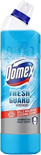 Domex Fresh Guard Ocean Fresh Disinfectant Liquid Toilet Cleaner, Colour Changing Formula To Kill All Germs And Gives Fres...